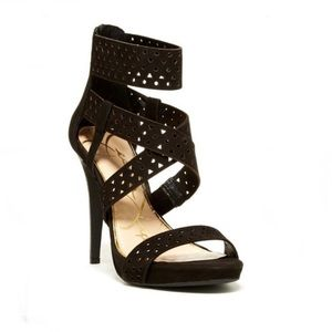 JESSICA SIMPSON Chinah Black Strappy Sandals - 6